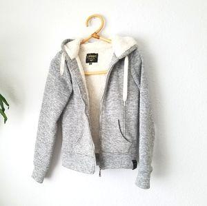 Sherpa zip up hoodie sweatshirt